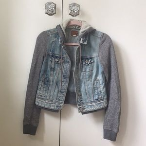 AEO hooded jean jacket